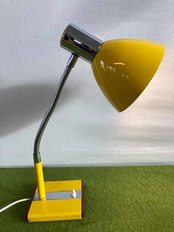Gele retro bureaulamp