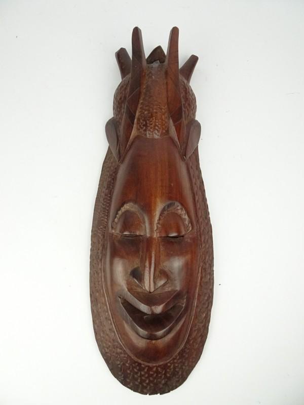 Houten decoratief masker