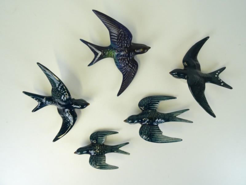 Lot van 5x zwaluwen