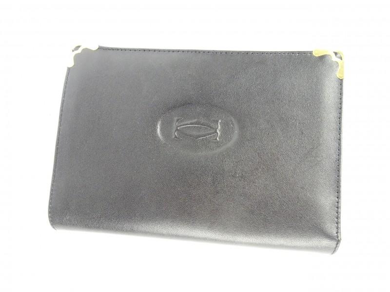 Zwarte portefeuille gemerkt CC.