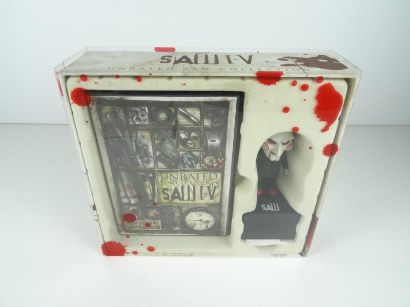 Collector's Edition Saw I-V DVD Trilogy + Jigsaw Spraakmemo