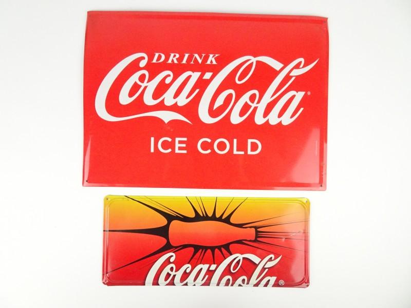 2 Coca Cola reclame borden.