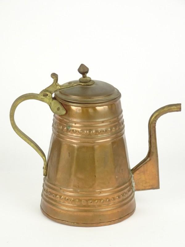 Vintage koperen koffiepot