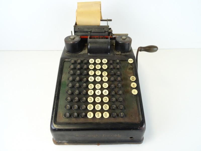 Antieke Rekenmachine Burroughs Portable