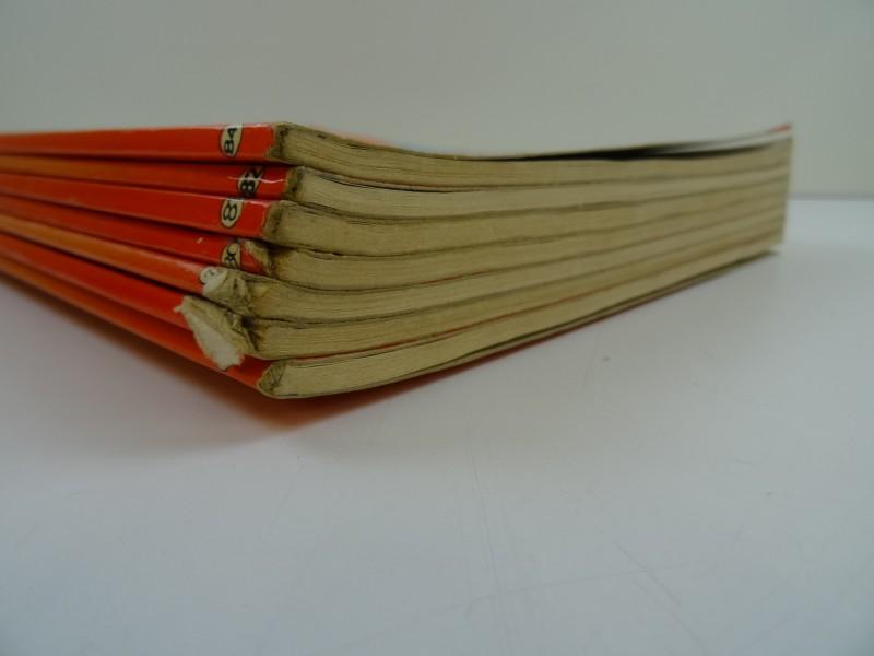 Willy Vandersteen: 7 x  Suskes en Wiskealbums kleuren eerste druk van nr 72-  84
