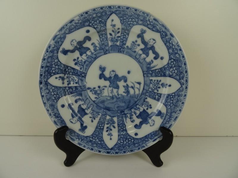 Chinees blauw bord