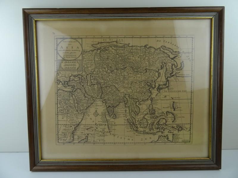 "Kader met druk ""nieuwe kaart van Asia 1733 """