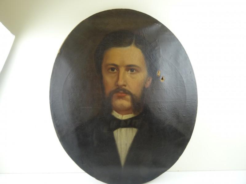 Schilderij : portret Jongeman 1876