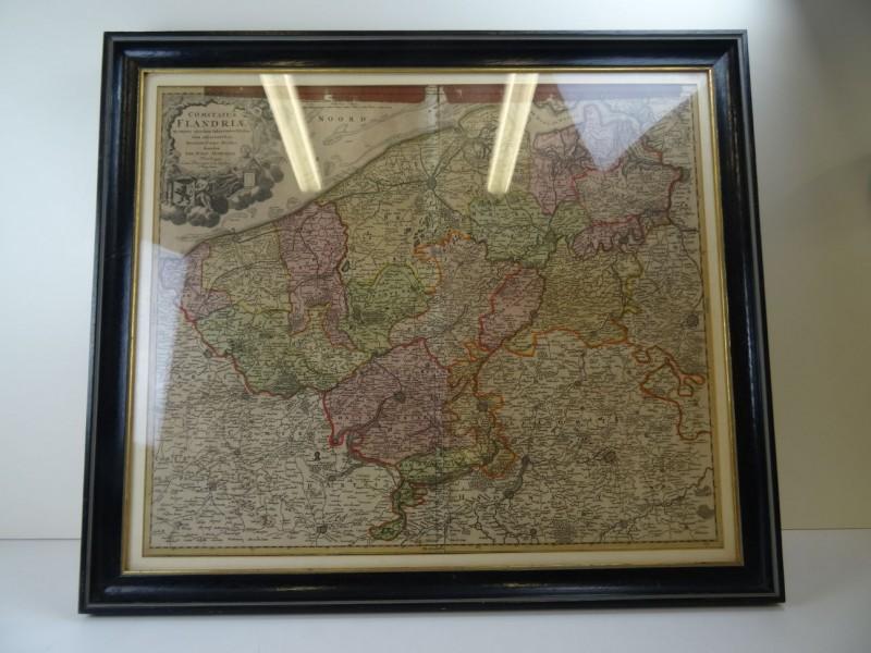 oude kaart COMITATUS FLANDRIAE van Johann Baptist Homann