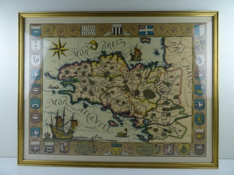 Kader kaart Duché de Bretagne 1513