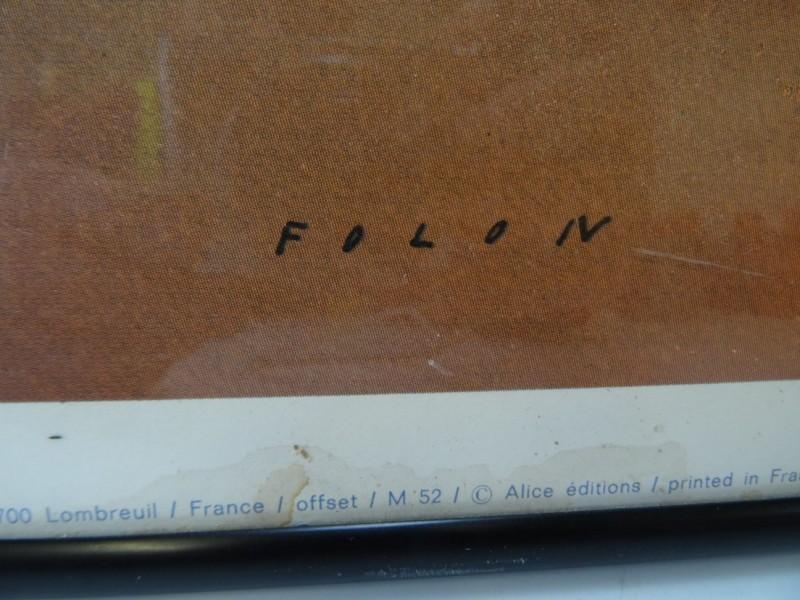 Jean-Michel Folon: The View, offsetdruk 1970