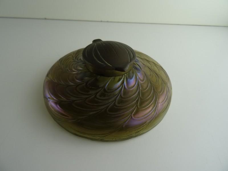 Art-Nouveau Loetz Iridescent Inkwell 1910