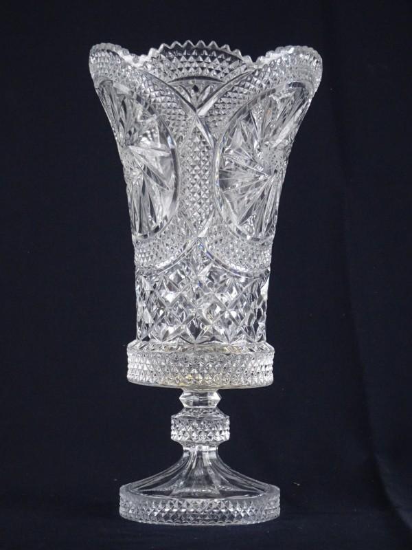 Grote kristallen vaas.