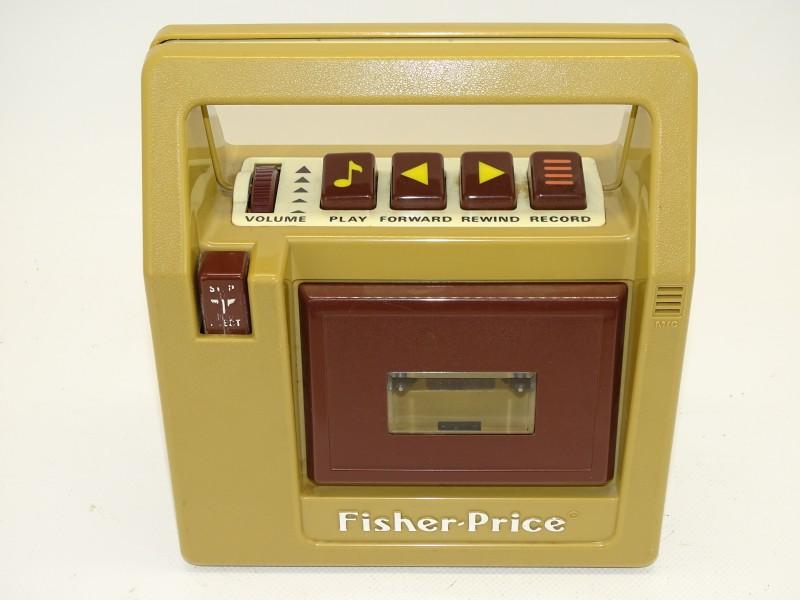 Vintage Fisher-Price Cassette Speler/Recorder, 1980