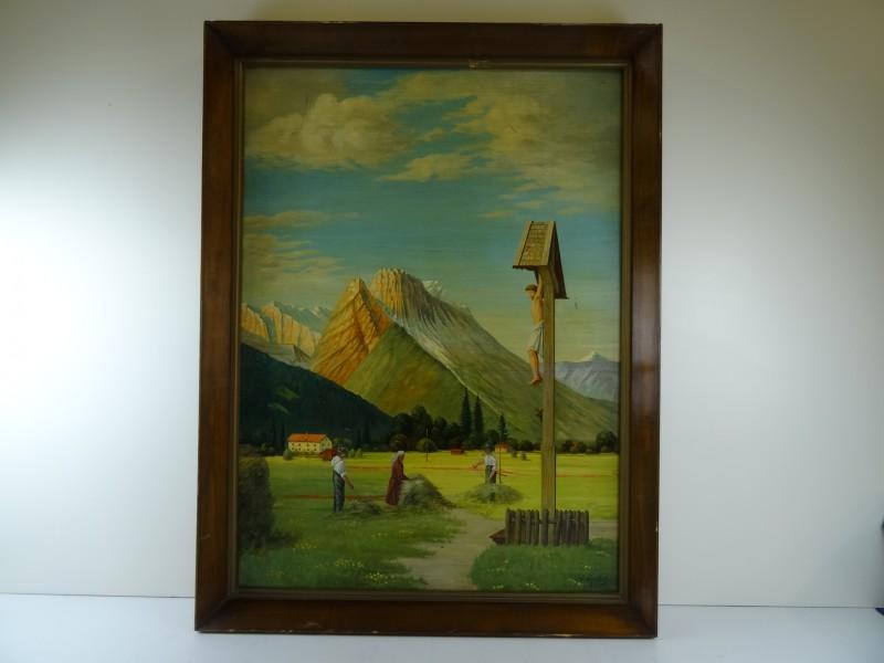 schilderij op plaat - berglandschap