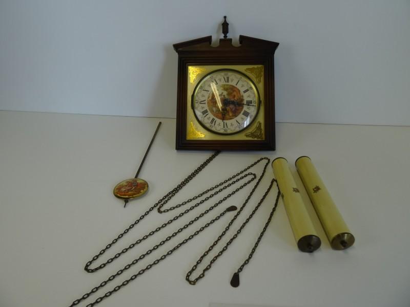 2 vintage wandklokken