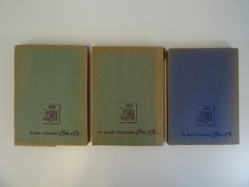 3 x Chromoalbums Faunaflor Congo  + 2 kaarten + enveloppe met postkaarten