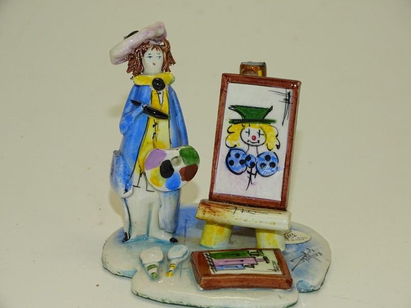 Postuurtje: Dame Schildert Clown, Zampiva, Italië