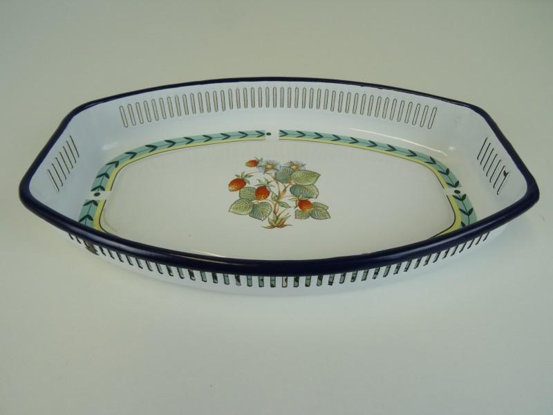 Villeroy & Boch: Art Deco fruitschaal versierd met floraliën