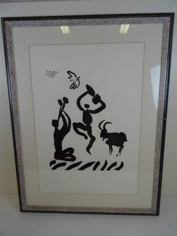 Pablo Picasso: print van de lithografie Musicians  1959