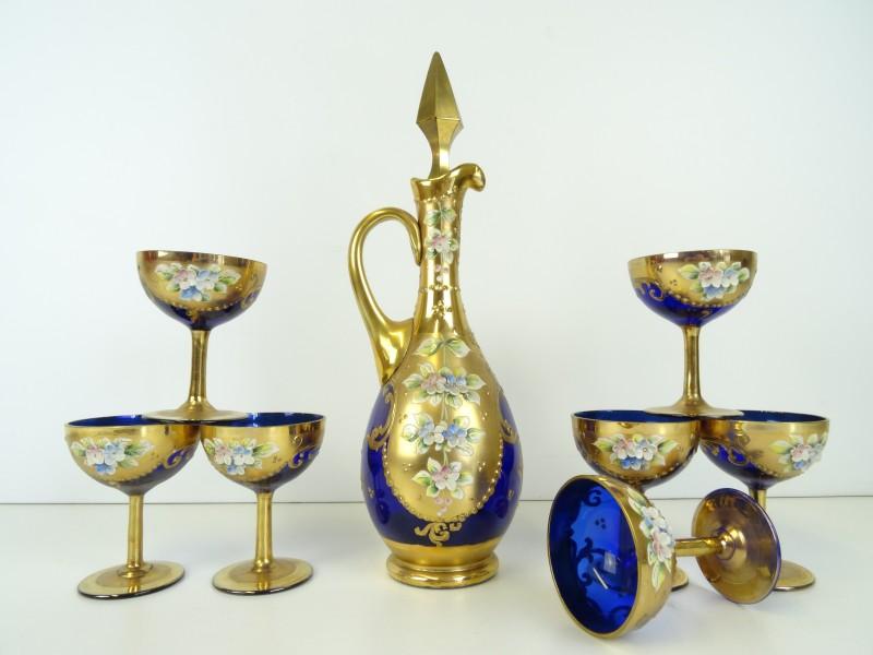Bohemia geëmailleerd kobaltblauw