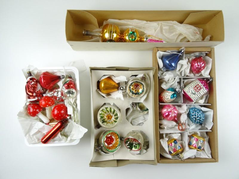 Oude kerstballen set 1