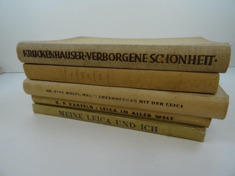 5 Duitse boeken  en Nederlandstalige tijdschriften over fotografie jaren '30- '40
