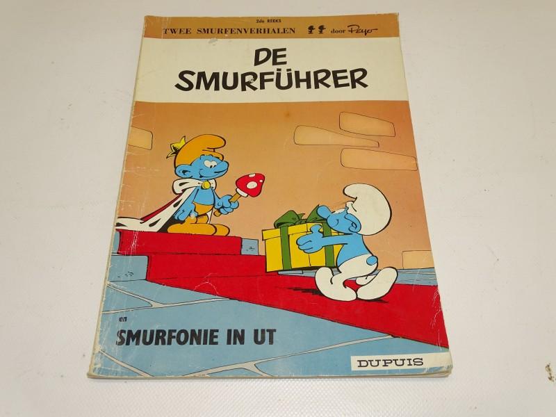 Strip: De Smurführer + Smurfonie In Ut, 2de Reeks, 1973