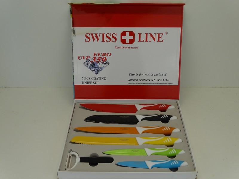 7 Delige Keramische Messenset: Swiss Line