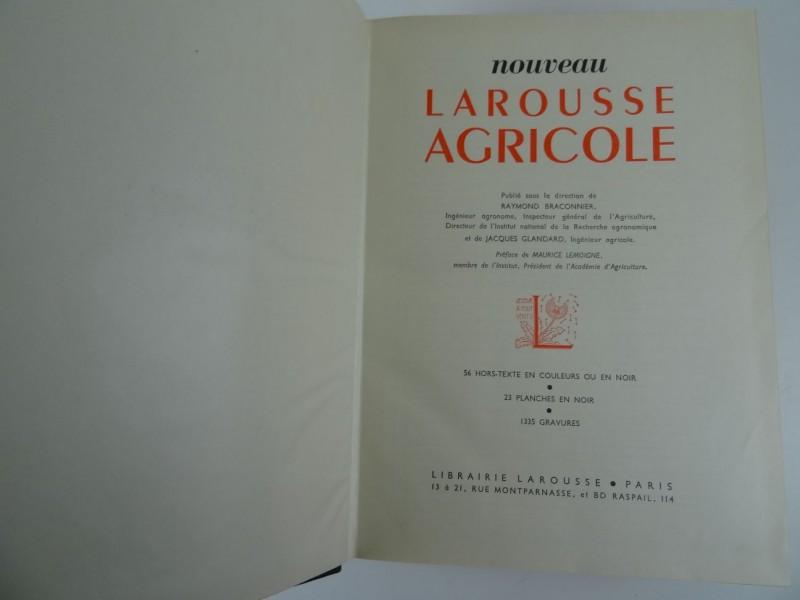 Raymond Braconnier - Larousse Agricole - 1952
