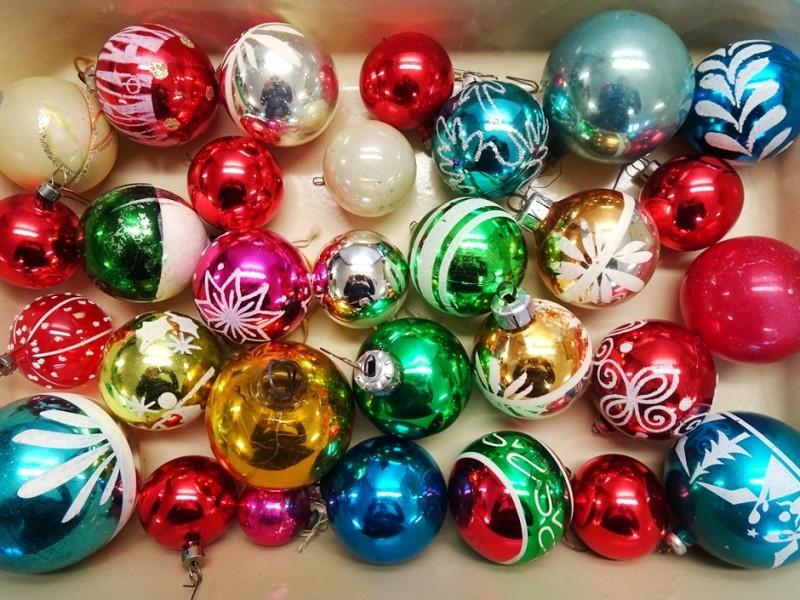 Set 30 glazen Kerstballen