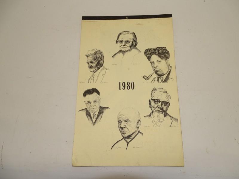 Vintage Scheurkalender, 1980