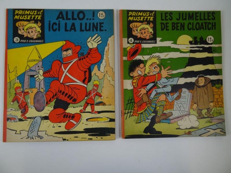 Primus et musette: 2 strips van F. Craenhals nrs 3 en 4 1962