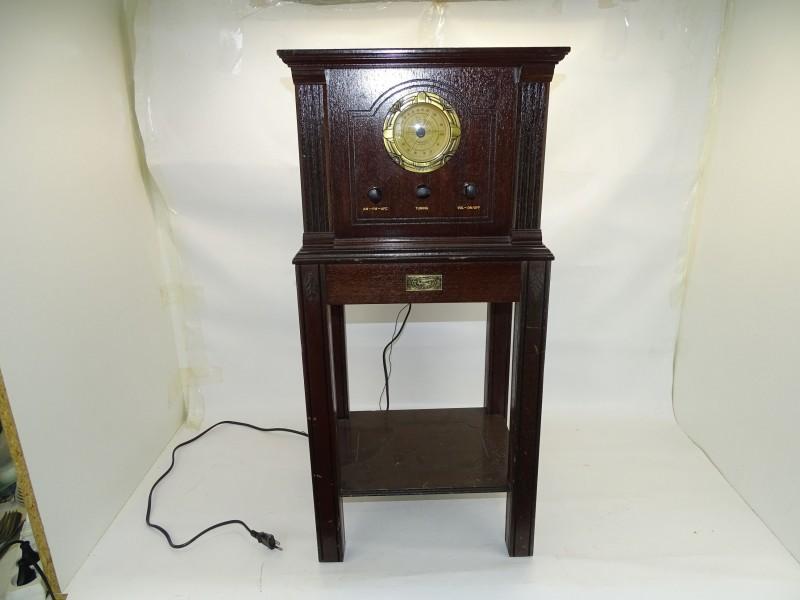 Replica Antieke Radio met Cassettespeler, Spirit Of St Louis Collection, N° 000204