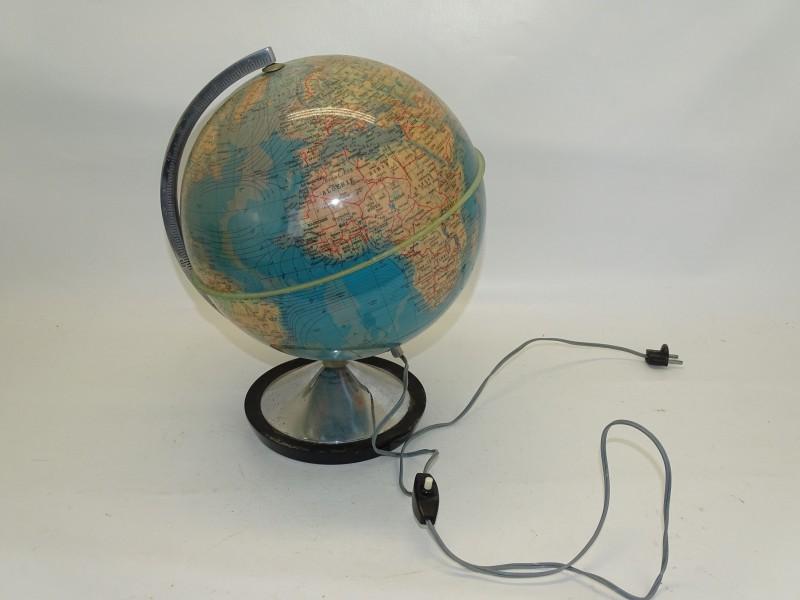 Wereldbol, Natuurkundige En Staatkundige Standaard Globe, 1967