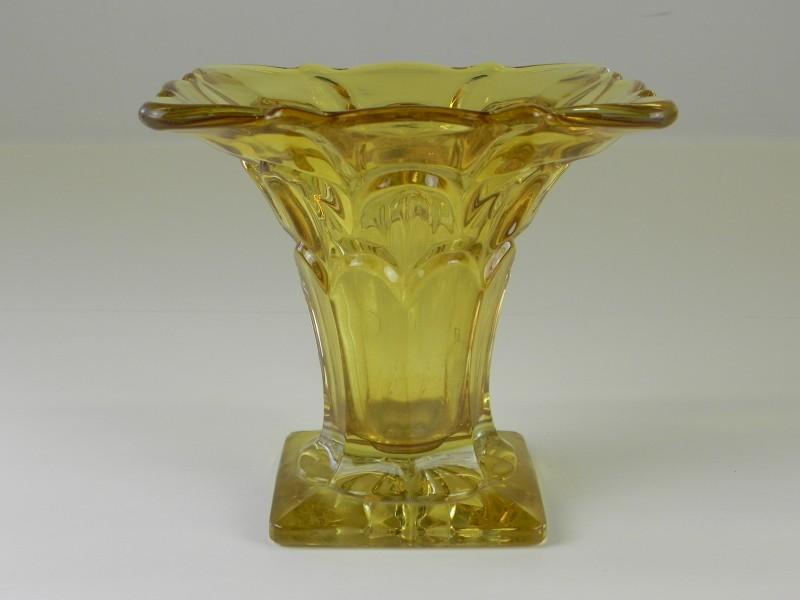 Amberkleurige vaas
