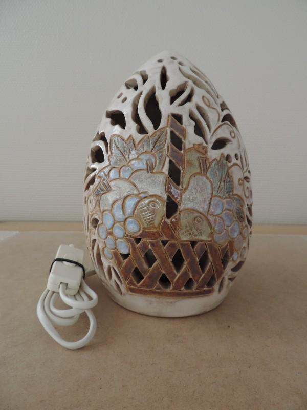 "Tafellamp ""Gres d'Art Dubois Tourné Main Bouffioulx"""