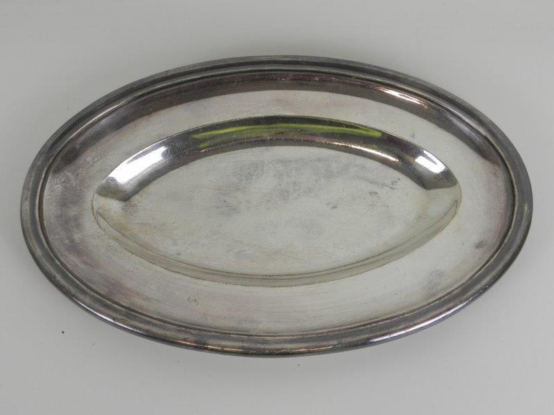 Ovale schaal in zilver metaal (2) - Verzilverd - Wiskemann
