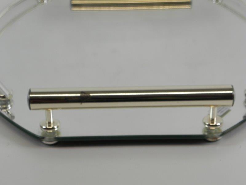 Milano zilveren Italiaans dienblad met spiegel en messing