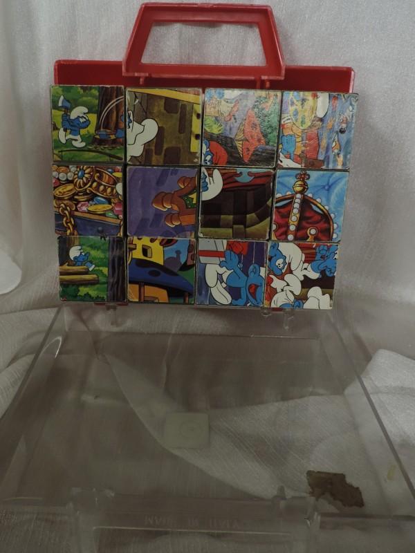 Vintage Smurfen Blokkenpuzzel