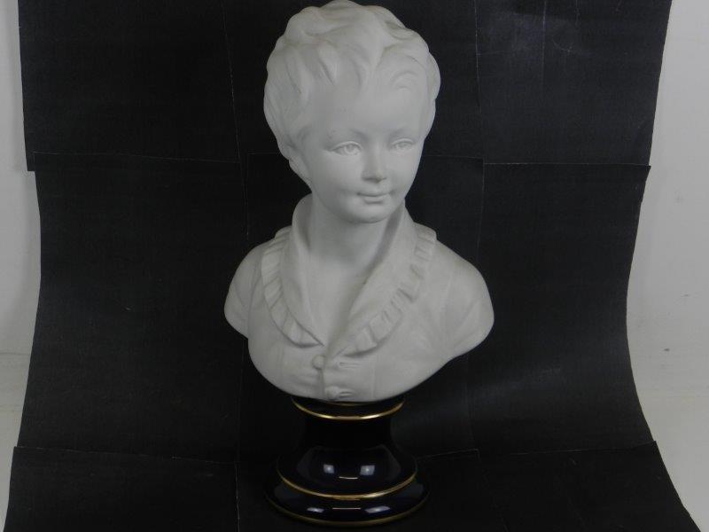 Groot Limoges Porseleinen buste beeld van een kind