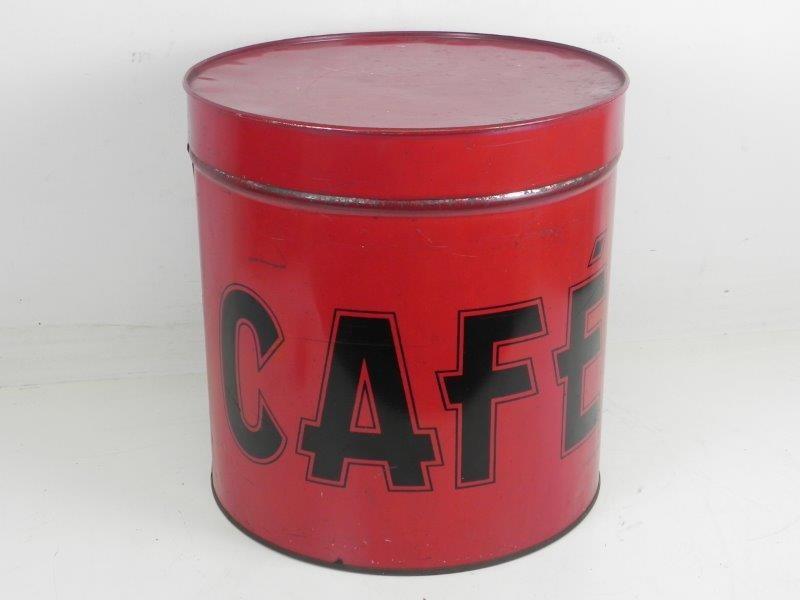 Antiek Rood Koffieblik