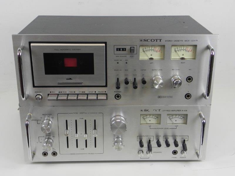Versterker Scott A436E + Cassette deck CD67R