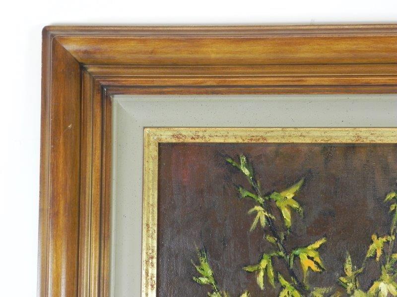 Schilderij op doek met houten kader