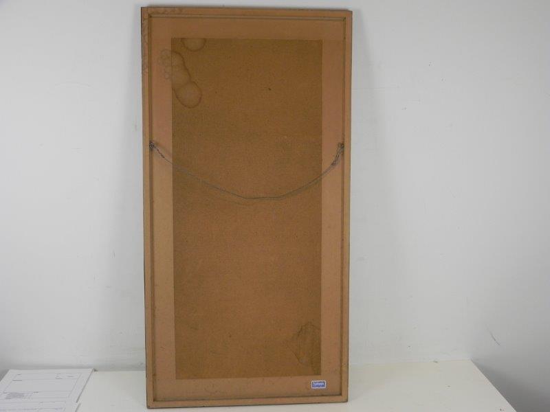 Gelimiteerde afdruk met kader en glas