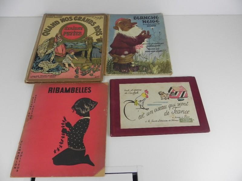 4 charmante Franstalige kinderboeken jaren '30 '40