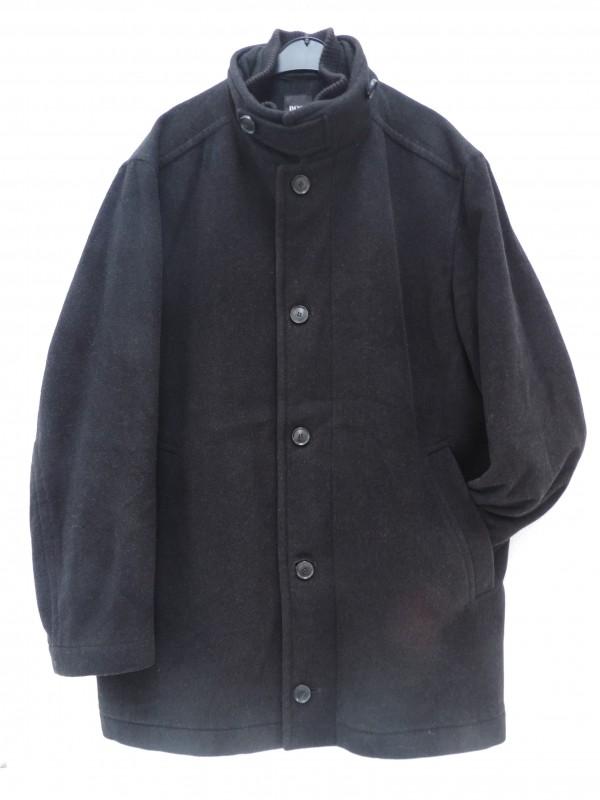"Mooie klassieke overjas van Hugo Boss (""Conex"" black cashmere wool coat)"