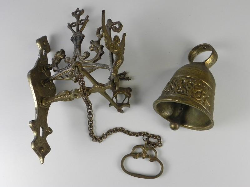Vintage katholieke messing bel