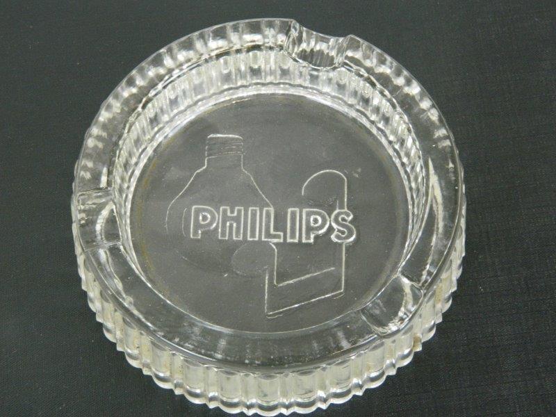 Asbak glas rond - Philips