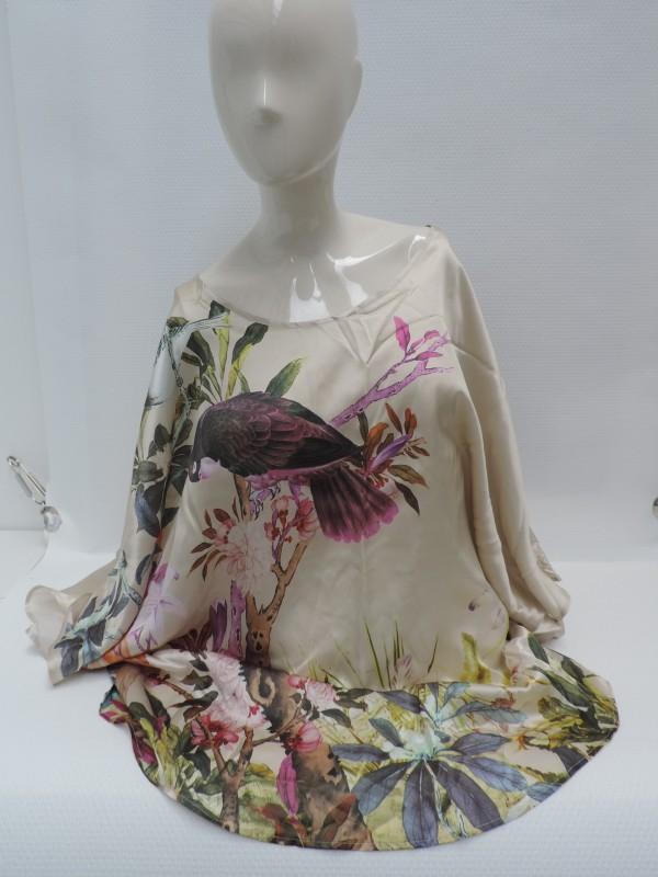 Zijden tunique-blouse